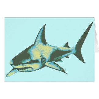 pescados del tiburón, animales salvajes tarjeta de felicitación