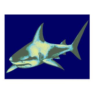 pescados del tiburón, animales salvajes tarjetas postales