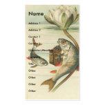 Pescados del vintage tarjeta de visita