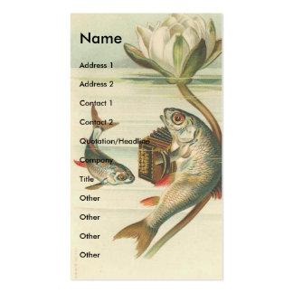 Pescados del vintage tarjetas de visita