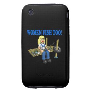 Pescados demasiado 2 de las mujeres iPhone 3 tough fundas