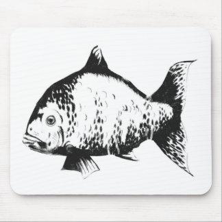 Pescados dibujados mano alfombrillas de ratones