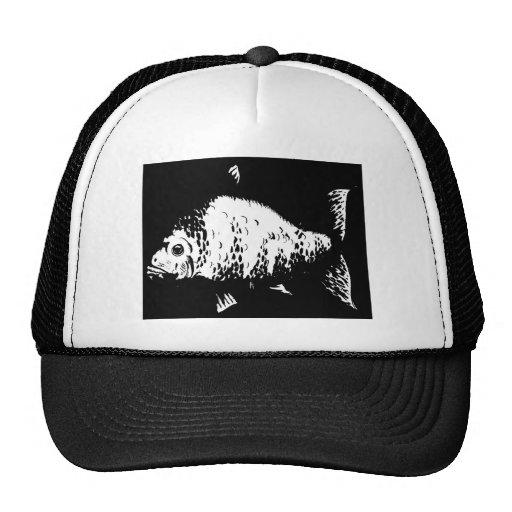 Pescados dibujados mano gorra