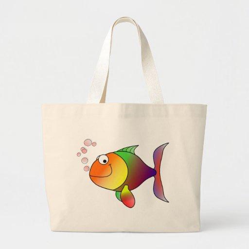 Pescados divertidos lindos - coloridos bolsa de mano