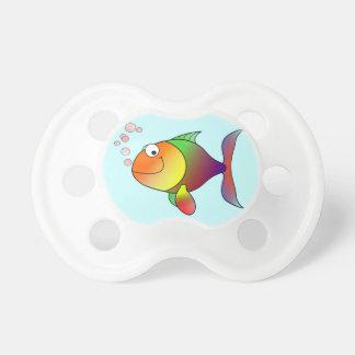 Pescados divertidos lindos - coloridos chupetes de bebe