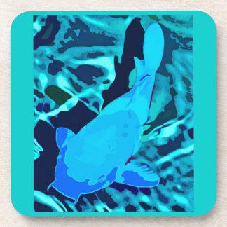 Pescados en acuario, azules posavasos