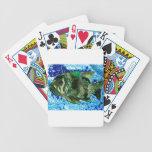 pescados en agua azul baraja de cartas