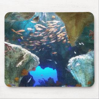 Pescados en cojín de ratón del acuario alfombrillas de ratones