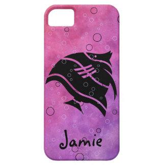 pescados en cubiertas ROSADAS púrpuras del iphone  iPhone 5 Case-Mate Protectores