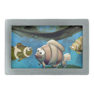 Pescados en el océano hebillas de cinturón rectangulares