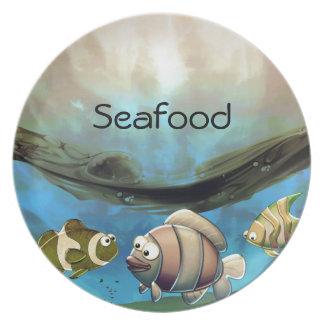 Pescados en el océano platos de comidas