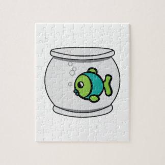 Pescados en Fishbowl Rompecabezas Con Fotos