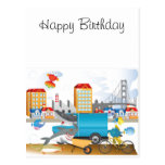 Pescados en la tarjeta del océano tarjetas postales