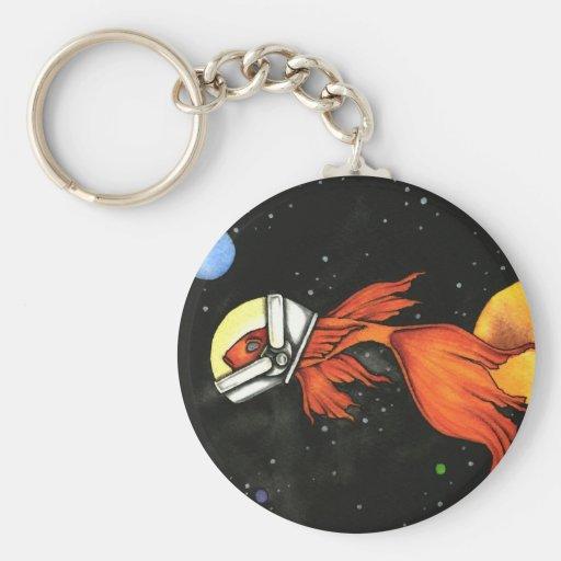 Pescados en llavero del espacio