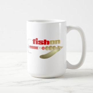 Pescados en (señuelo) taza de café