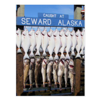 Pescados en Seward, Alaska Postales