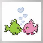 pescados en tarjeta del día de San Valentín del Impresiones