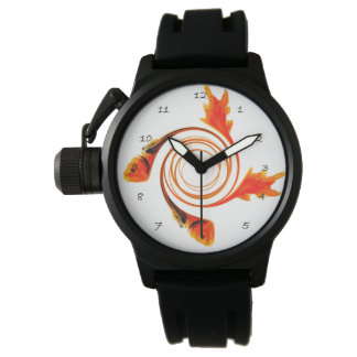 Pescados en un arte abstracto del remolino reloj de mano