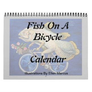 Pescados en un calendario de la bicicleta