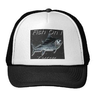 ¡Pescados encendido! Atún para la luz Gorras