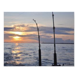 ¡Pescados encendido! Invitación 10,8 X 13,9 Cm