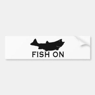 Pescados encendido pegatina de parachoque