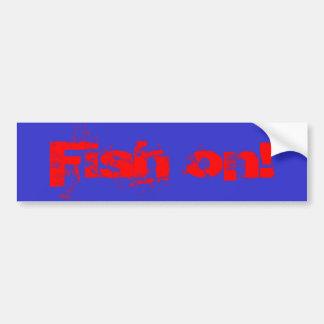 ¡Pescados encendido! Pegatina Para Auto