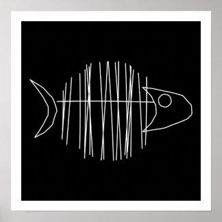 Pescados enrrollados - B y W Póster