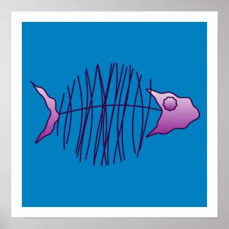 Pescados enrrollados póster