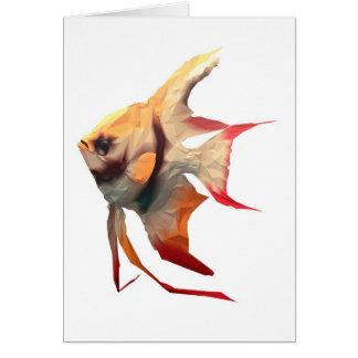 Pescados escalares tarjeta de felicitación
