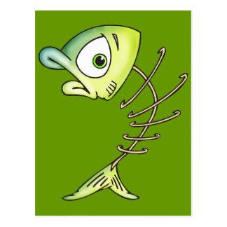 Pescados esqueléticos del hueso postal