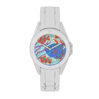 Pescados Estallido-Coloreados Reloj