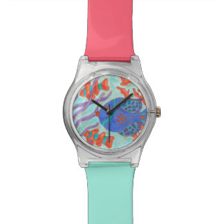 Pescados Estallido-Coloreados Reloj De Mano
