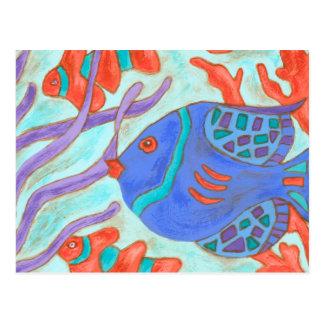 Pescados Estallido-Coloreados Postal