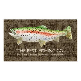 Pescados exclusivos del negocio de la guía del bar tarjetas de negocios