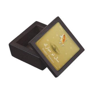 Pescados felices de Norooz - caja de regalo persa Caja De Joyas De Calidad