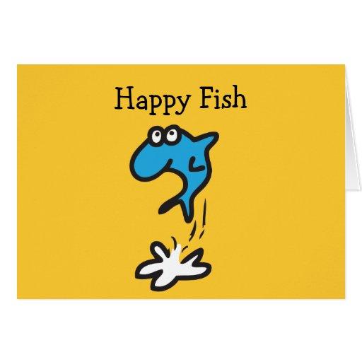 Pescados felices tarjeta de felicitación