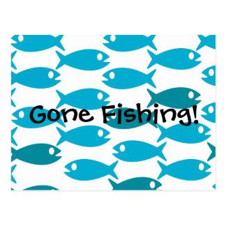 ¡Pescados Fishin ido postal temática