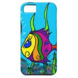 Pescados gordos coloridos iPhone 5 Case-Mate funda