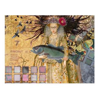 Pescados góticos del renacimiento caprichoso de tarjeta postal