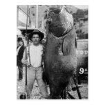 Pescados grandes reales, 1900s tempranos postal