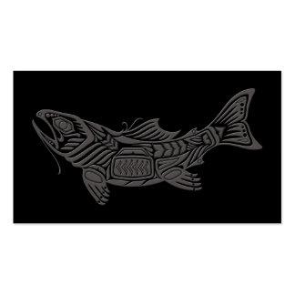 Pescados grises del alcohol del Haida en negro Plantilla De Tarjeta De Negocio