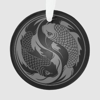 Pescados grises y negros de Yin Yang Koi