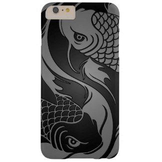 Pescados grises y negros de Yin Yang Koi Funda Para iPhone 6 Plus Barely There