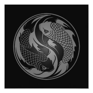 Pescados grises y negros de Yin Yang Koi Anuncios