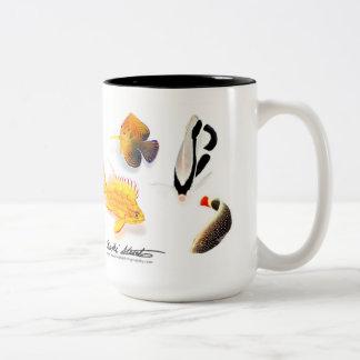 Pescados hawaianos endémicos, edición especial taza de café de dos colores