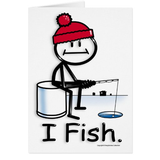 Pescados: hielo tarjeta de felicitación