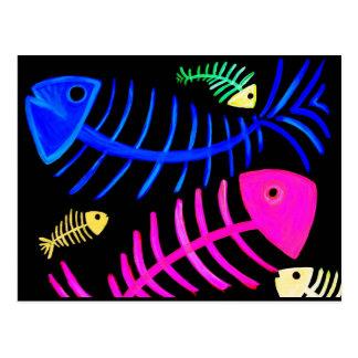 Pescados huesudos tarjetas postales