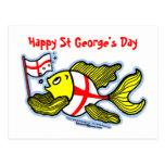 Pescados ingleses de la bandera del St Jorte del d Postales