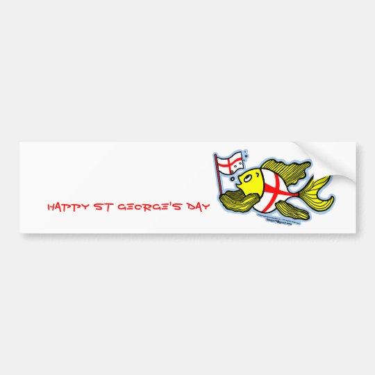 Pescados ingleses de la bandera del St Jorte del Pegatina Para Auto